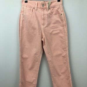 Madewell pink High Rise Jean style H5825